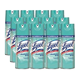 Lysol Professional Disinfe ctant Spray, Crystal Waters, 150 oz (12X12.5 oz)