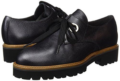 para Cordones Zapatos Negro Black Mujer de Derby Gadea Queen twHxqXqA