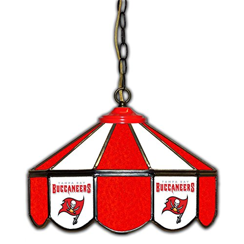 Tampa Bay Buccaneers 14-In. Stained Glass Pub Light