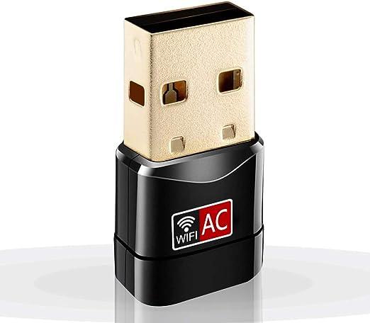 Oacvien WiFi Adaptador 600mbps Driver Receptor Banda Dual 2.4G/5G Mini WiFi Adaptador de dongle de Alta Ganancia para PC portátil de Escritorio ...
