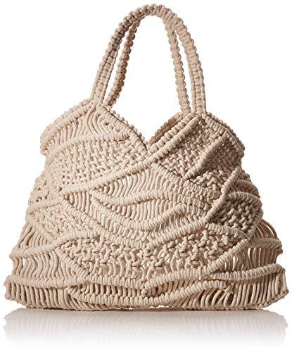 PIECES Damen Pcnanna Crochet Bag Sww Umhängetasche, Beige (Nature), 1x32,5x30 cm
