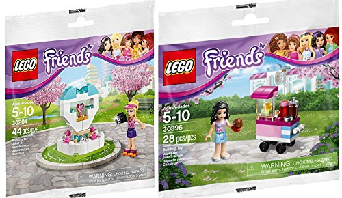 LEGO Friends Cupcake Stall (30396) + Friends Mini figure Wish FountainSet LEGO (30204) Polybag edition Building Set