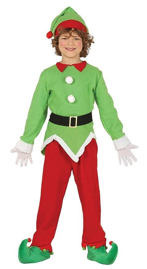 Guirma Costume da Elfo Folletto aiutante Babbo Natale Bambino ... 5638378f98a4