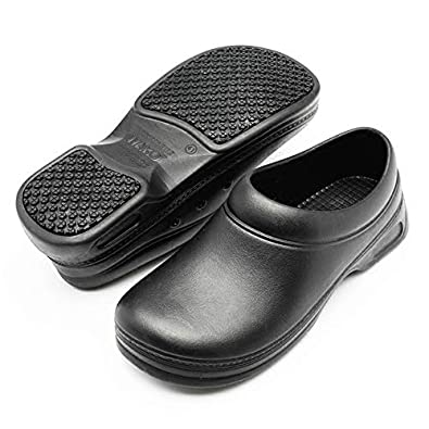 4f19e22f137a MAX MEMBER Chef Shoes Men Sandals Waterproof Oil Resistant Super Anti-Skid  Non Slipping Safety Clogs Kitchen Hotel Restaurant Work Shoes  Black