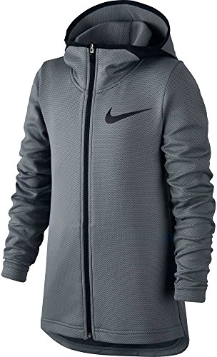f5b57ede Nike Boys' Therma Flex Showtime Full Zip Basketball Hoodie (Cool Grey/White,