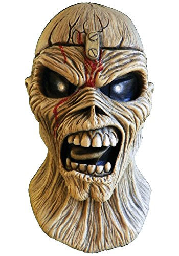 Loftus International Trick or Treat Studios Iron Maidenpiece of Mind Full Head Mask, Beige, One-Size Novelty -