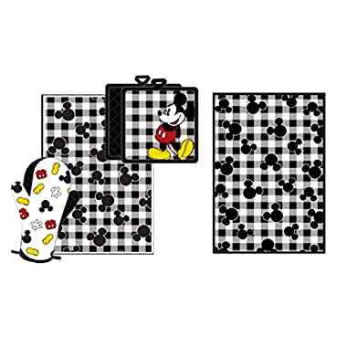 Disney Mickey Pie Kitchen Towel Set Black White [4-Piece Set]