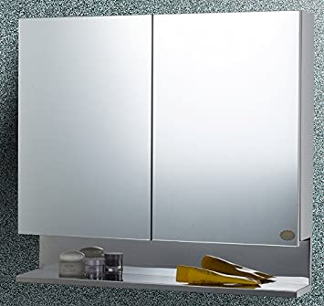 Cipla Plast Free 14 Pcs Multipurpose Buffers Double Door Stainless Steel Bathroom Cabinet