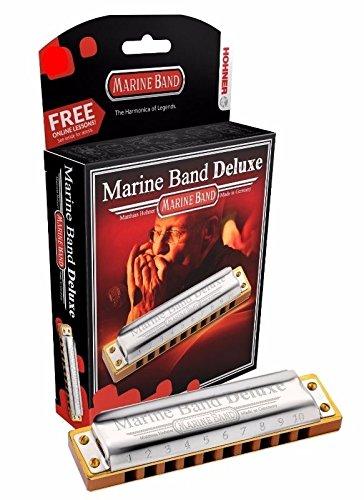 Hohner Marine Band Deluxe Harmonica, Key of Eb