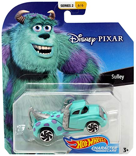 Sulley Monsters Inc Hot Wheels Disney Character Cars Diecast Car 1:64 Scale -