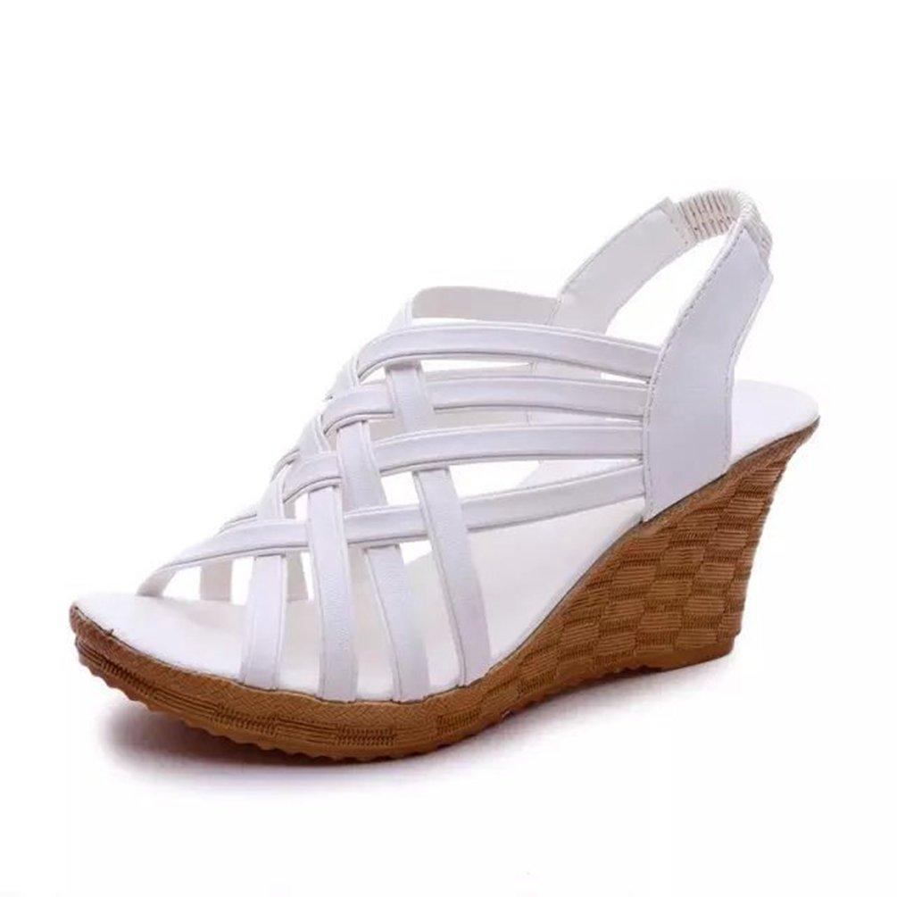 JITIAN Chaussures Sandales Hauts Bride Talons Compensés Escarpin Bride Arrière Souple Sangle Souple Femmes Ouvertes Sandales Blanc 68541a2 - latesttechnology.space
