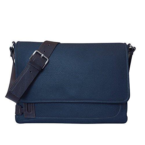 City Chiarugi cuir Bleu à Style en italien Sac bandoulière marron dwxqZUOw