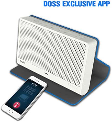 DOSS Cloud Book Wireless Portable Bluetooth 4.0&Wi-Fi Straming Music speaker,support Pandora,Spotify,iHeart,Tuneln,Multi-room play,Built-in rechargeable battery,handsfree,12 hours play[Color:Blue]