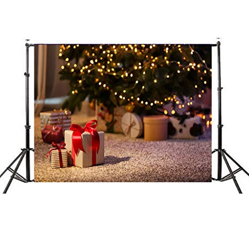 Iusun Christmas Backdrops, Xmas Backdrops Vinyl Wall 5x3FT Digital Background Photography for Studio Wall Home Decor (G) (Vinyl Waterproof Is Fabric)