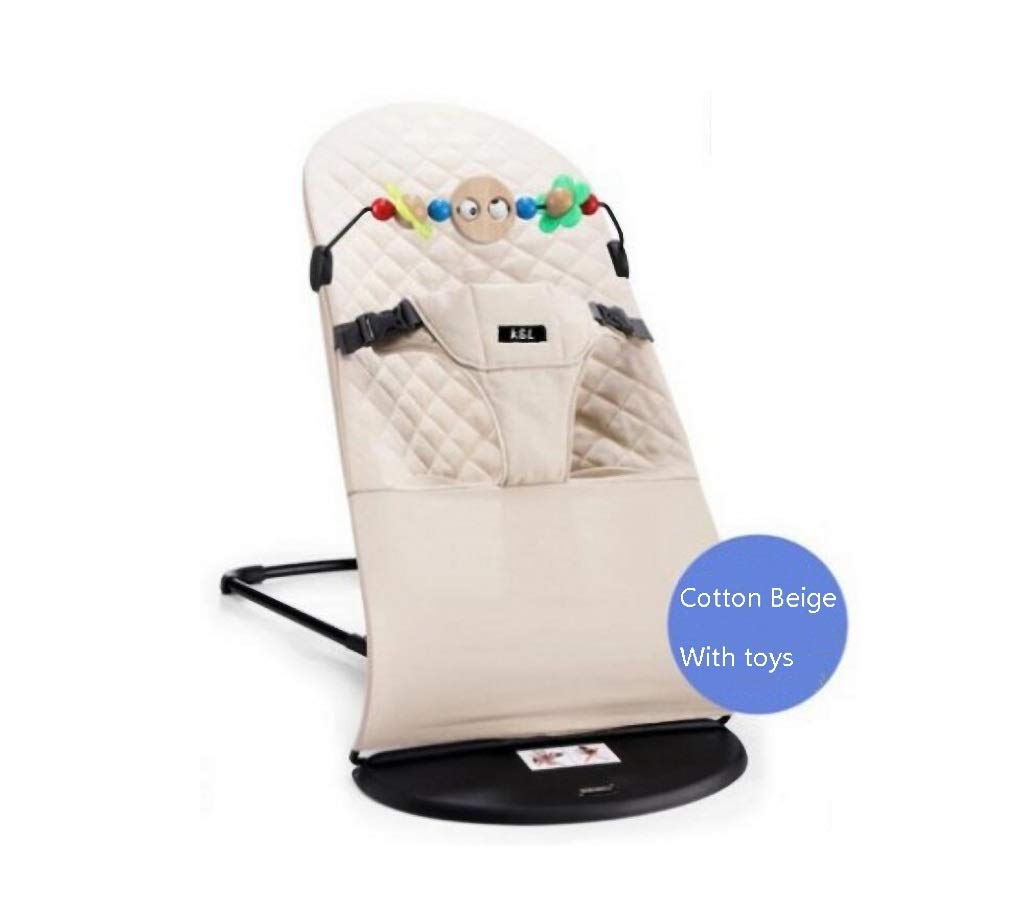 XNYY BABY Balance Swings Baby Rocking Chair Comforting The Cradle Chair Baby Recliner Newborn Children Sleeping Artifact Child Rocking Chair(Beige) Breathable Comfortable Wear-Resistant by XNYY BABY