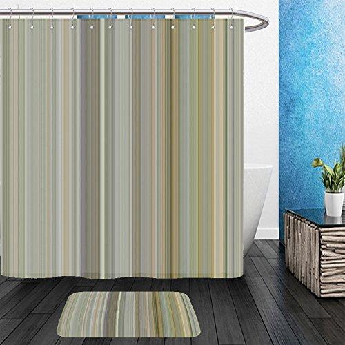 Vanfan Bathroom 2Suits 1 Shower Curtains & 1 Floor Mats digital tiles design wallpaper design 483913522 From Bath room