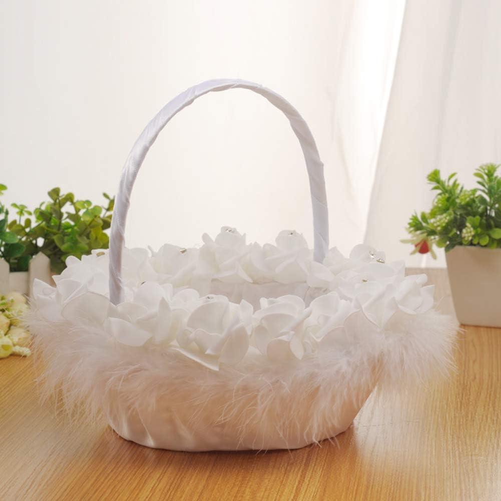Ltp Wedding Flower Basket Pe Foam Lace Wedding Bride Basket Small Jewelry Storage Basket Home Debris Storage Basket
