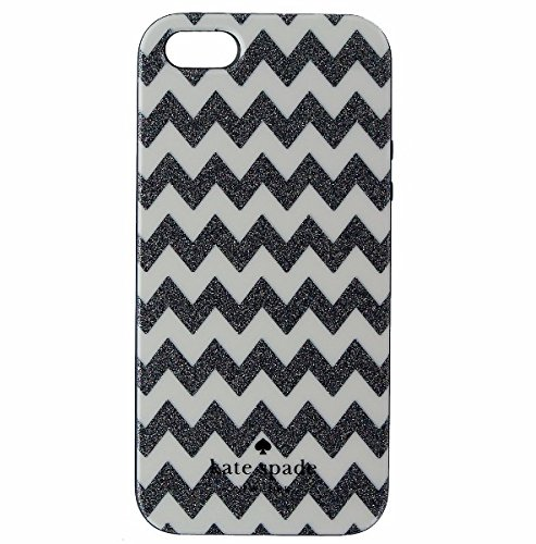 Kate Spade New York Flexible Hardshell for iPhone 5/5S - Chevron Multi Glitter/Cream