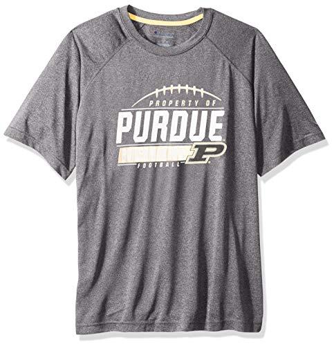 NCAA Purdue Boilermakers Mens NCAA Men's Short Sleeve Football Season Jersey Teechampion NCAA Men's Short Sleeve Football Season Jersey Tee, True Black, X-Large