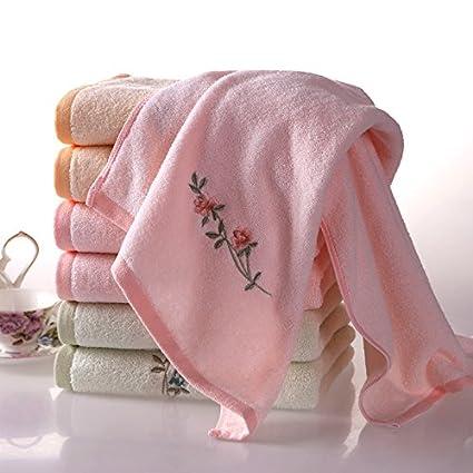 hoomy 6pcs bordado toallas de mano de suave algodón Toallas para las niñas agua absorción toallas