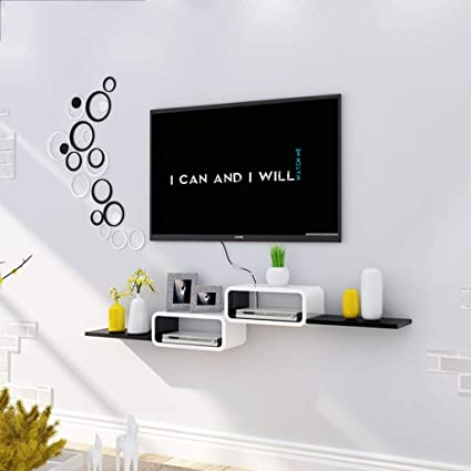 Admirable Shelf Floating Shelf Tv Wall Mount Shelf For Cable Box Dvd Home Remodeling Inspirations Genioncuboardxyz