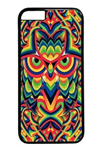 iPhone 6 Case,Owl 03 Custom PC Hard Case Cover for iphone 6 4.7 inch Black