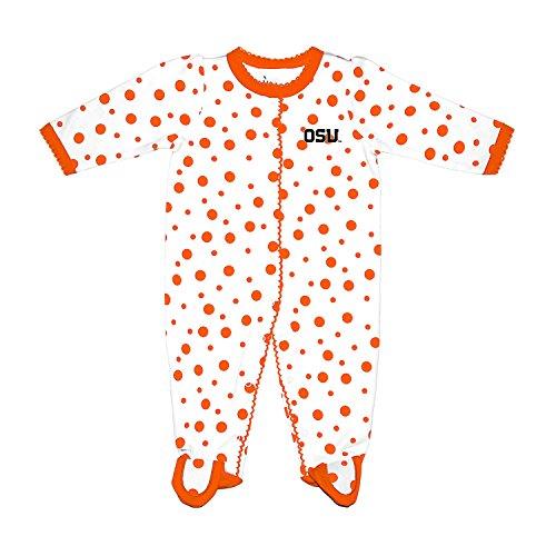 - Two Feet Ahead NCAA Oregon State Beavers Infant Polka Dot Footed Creeper Dress, New Born, Orange