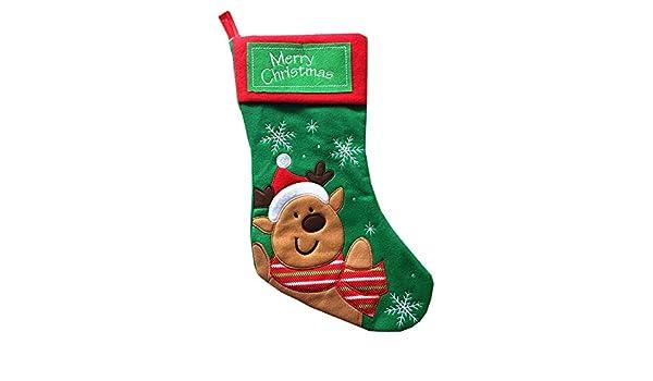 Quaan Navidad calcetín Saco, Papá Noel Deluxe Navidad ...