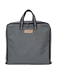 ELESAC Foldable Garment Bag,Clothing Suit Dance w/ Pockets,for Business Travel (Dark Grey)