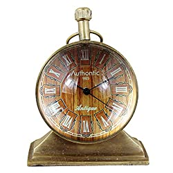 Roman Numeral Antique Retro Vintage-Inspired Metal Craft Table Clock Home Decor -3.5 Inch