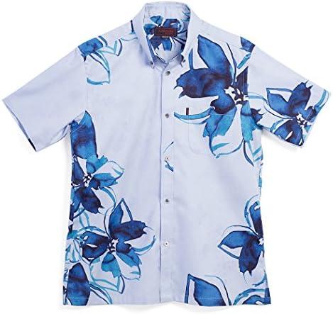 MAJUN (マジュン) かりゆしウェア アロハシャツ かりゆし 結婚式 メンズ 半袖シャツ ボタンダウン レイニークラウン