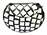 Batu Lee Stylish Handmade Antique METAL,RESIN, GLASS BEADS & LAC WORK Clutch Purse Wallet hard Handbag with Golden Chain Multi Elipse Shape for Women