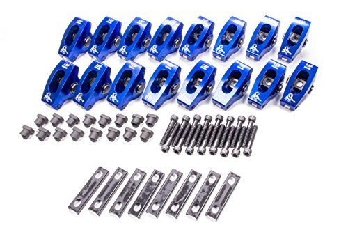 (Scorpion Performance 1021 1.6 Ratio Pedestal Mount Roller Rocker Arm for Small Block Ford - Pack of 16)