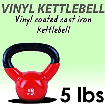 Nueva 5 KG recubierto de vinilo pesa rusa hierro fundido peso mancuernas Kettlebell: Amazon.es: Deportes y aire libre