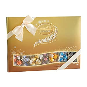 Lindt LINDOR Holiday Deluxe Sampler Assorted Chocolate Truffles, Kosher, 20.7 Ounce Gift Box