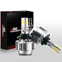 Autolizer (H11 / H8 / H9) LED Headlight All-in-One Bulbs Conversion Kit - 3-Sided COB Light Up 360° - 80 Watt 8000Lm - 6000K Cool White 6K - Replace Halogen & HID - 2 Yr Warranty