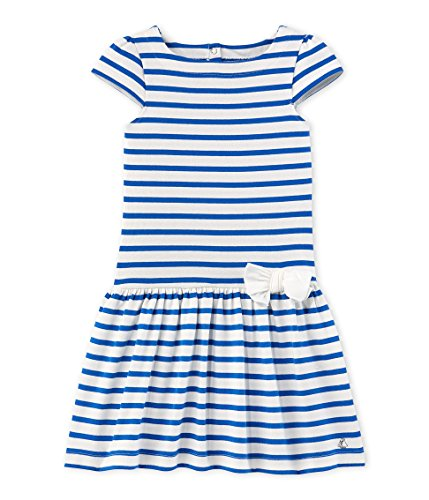 - Petit Bateau Girls' Fathilda, Blue/White, 3y
