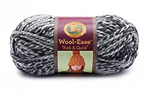 Lion  640-528 Wool-Ease Thick & Quick Yarn , 97 Meters, Licorice