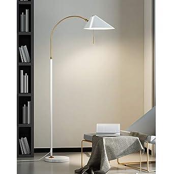 Lámpara de pie de arco de metal, lámpara de lectura, lámpara de ...