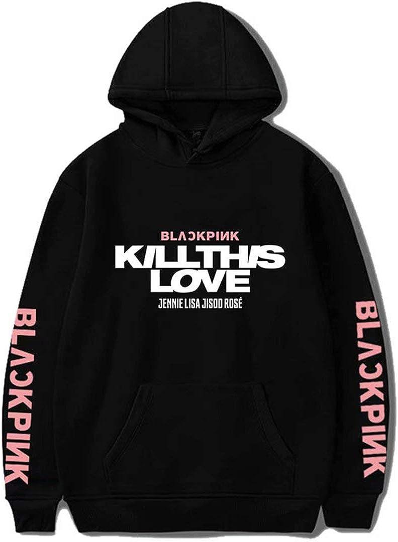 Kpop Blackpink Hoodie New Album Kill This Love Sweatshirt Lisa Rose Jennie Jisoo Hooded Sweater