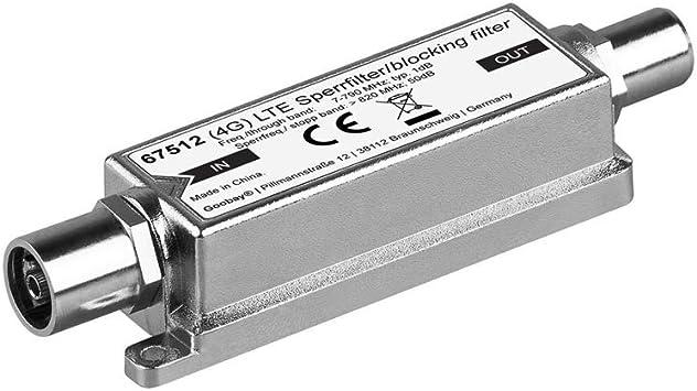 Goobay 67512 amplificador señal de TV - Amplificador de señal de TV, Metálico, 1 unidad