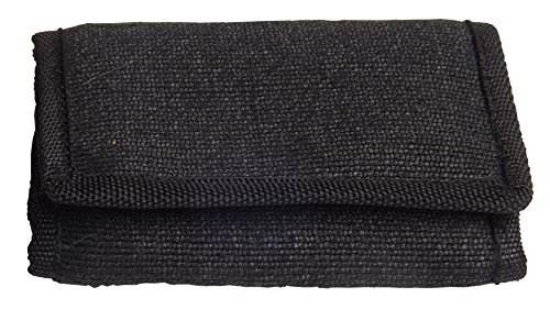 Green Breeze Imports Black RFID Shielded Natural Abaca Fiber Large Wallet