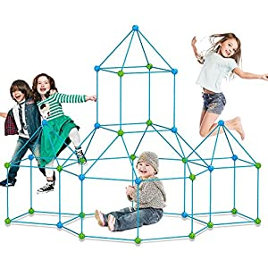 Best Epic Trends 51YTnfeOxTL._SS300_ Fort Building kit for Kids 120 Pieces Air Forts Builder Gift Kid Construction Toys for Boys and Girls Ages 3-5-7 DIY Fun…
