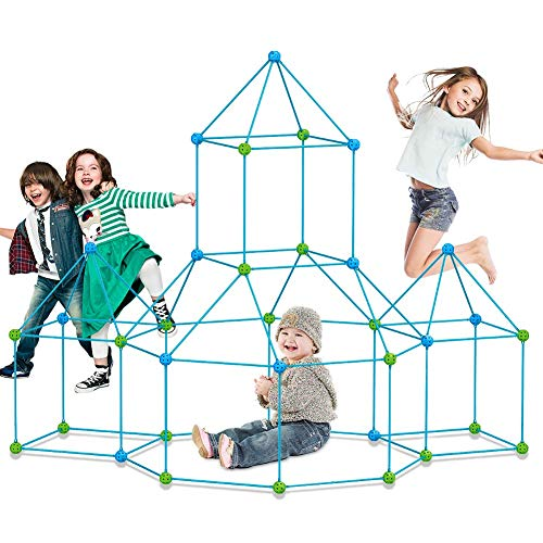 Fort Building kit for Kids 120 Pieces Air Forts Builder Gift Kid Construction Toys for Boys and Girls Ages 3-5-7 DIY Fun…