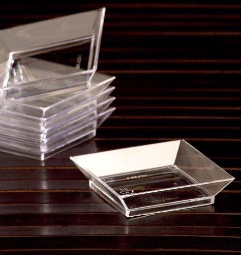 EMI Yoshi Koyal Abyss Dish, 2.5-Inch, Clear, Set of ()