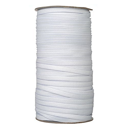- Elastic Cord/Elastic Rope/Elastic Band/Bungee/Heavy Stretch Knit Elastic Spool/White 50-Yards Length 3/8