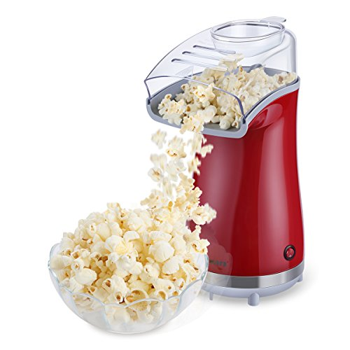 Excelvan Air Popcorn Maker for Healthy and Fat-Free Retro Hot Air Popcorn...