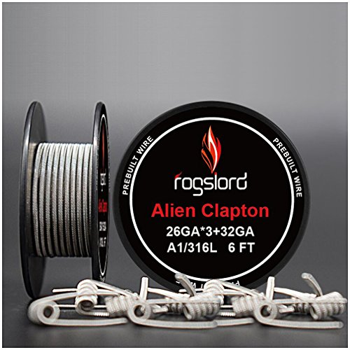 6 ft - AWG 26GAx3+32GA Alien Resistance Wire Kanthal A1+ SS316L Prebuilt Wire Coils for Household Wiring Use (Best Coil For Flavor)