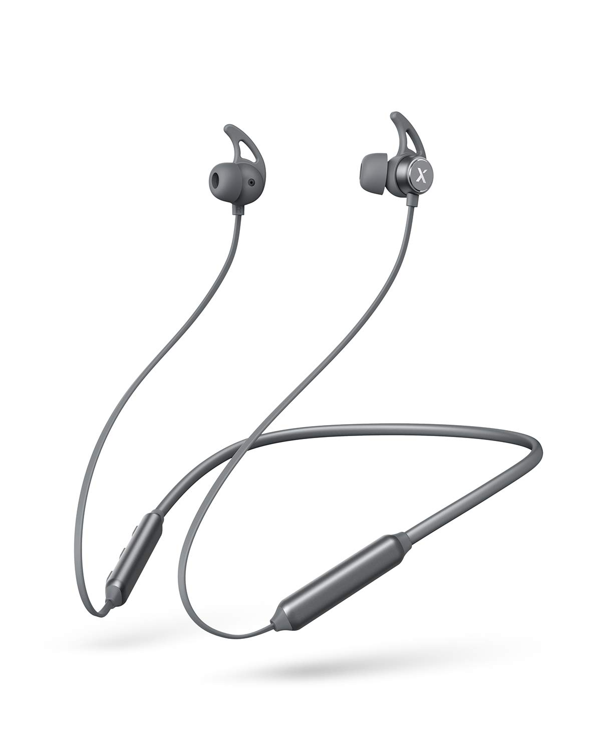 Xcentz Bluetooth Neckband Headphones Wireless Neckband Headset IPX7 Waterproof Bluetooth 5.0 Sports Earphones for Workout, Running, Gym,8 Hours Playtime, Magnetic Wireless Earbuds, Grey