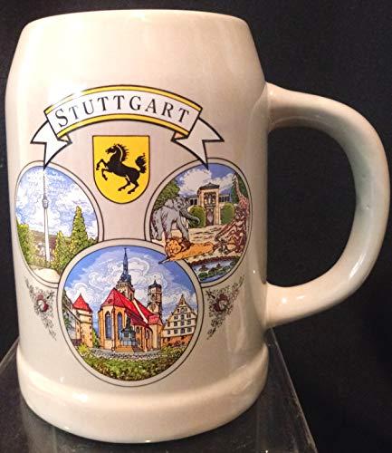 Stuttgart Beer - Stuttgart Beer Stein, Stuttgart Bier Stein, Bier Stein,Stuttgarter German Tankard, Stuttgarter Bier Stein, German Beer Stein